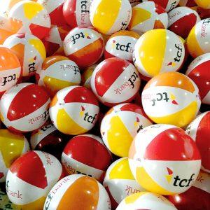 TCF branded beach balls