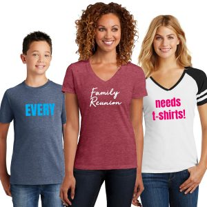 Every family reunion needs t shirts!