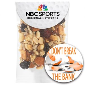 Team snack pouches with logo imprint