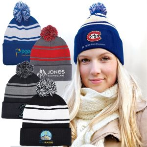 Team pompom beanie-branded merchandise from Creative Resources
