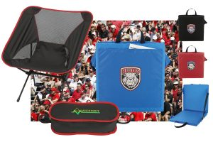 branded stadium seats and camp chair