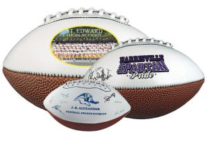 Custom photo team footballs-branded merchandise from Creative Resources
