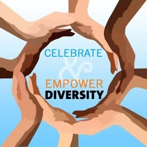 celebrate & empower diversity graphic