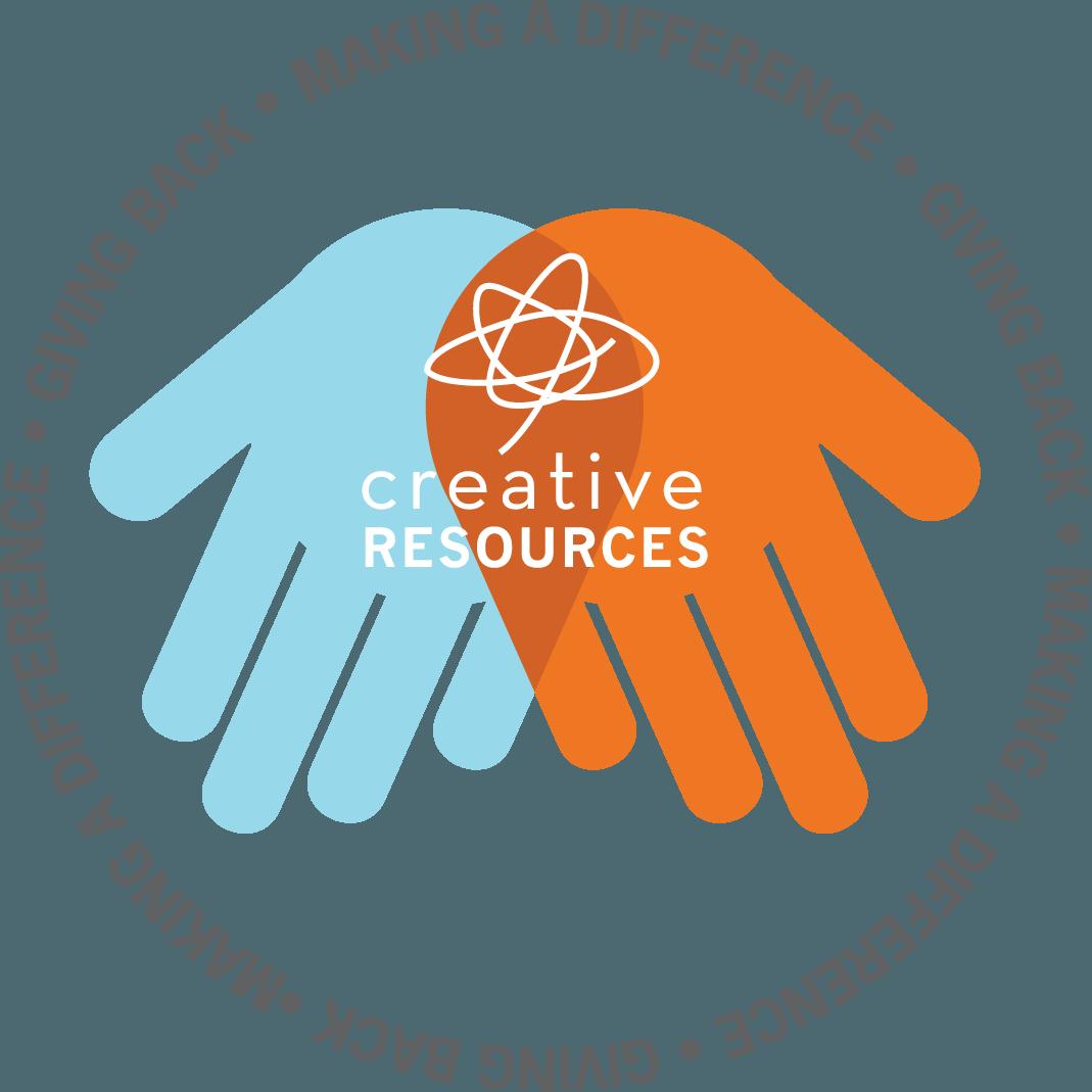 CR hands-giving back